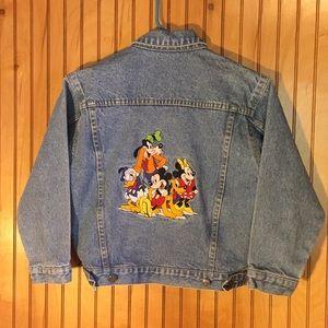 Retro 90's Disney gang embroidered denim jacket 😍